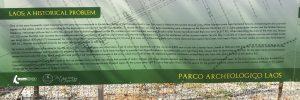 Placard at Parco Archaeologico di Laos