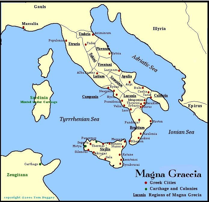 Magna Graecia Map