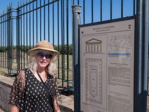 Chris at the Tavole Palatine Site Entrance