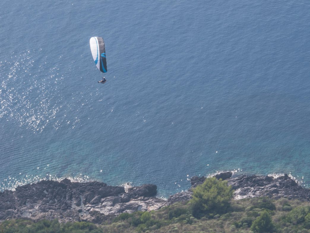 Soaring over the Tyrrhenian coast